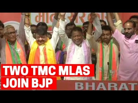 Two TMC MLAs and over 50 councillors from West Bengal join BJP