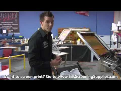 How to Screen Print - 4 Color Process - Detailed instruction - Screen Printing 101 DVD pt 33