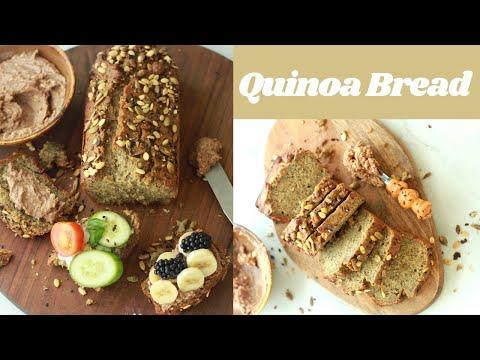 Quinoa Bread Recipe I High Protein I Low Carb I Gluten Free I Vegan I Yeast Free I