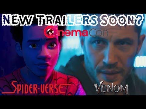 NEW Venom & Into The Spider-Verse Trailers SOON?!? Exclusive Sony Presentation at CinemaCon!!!