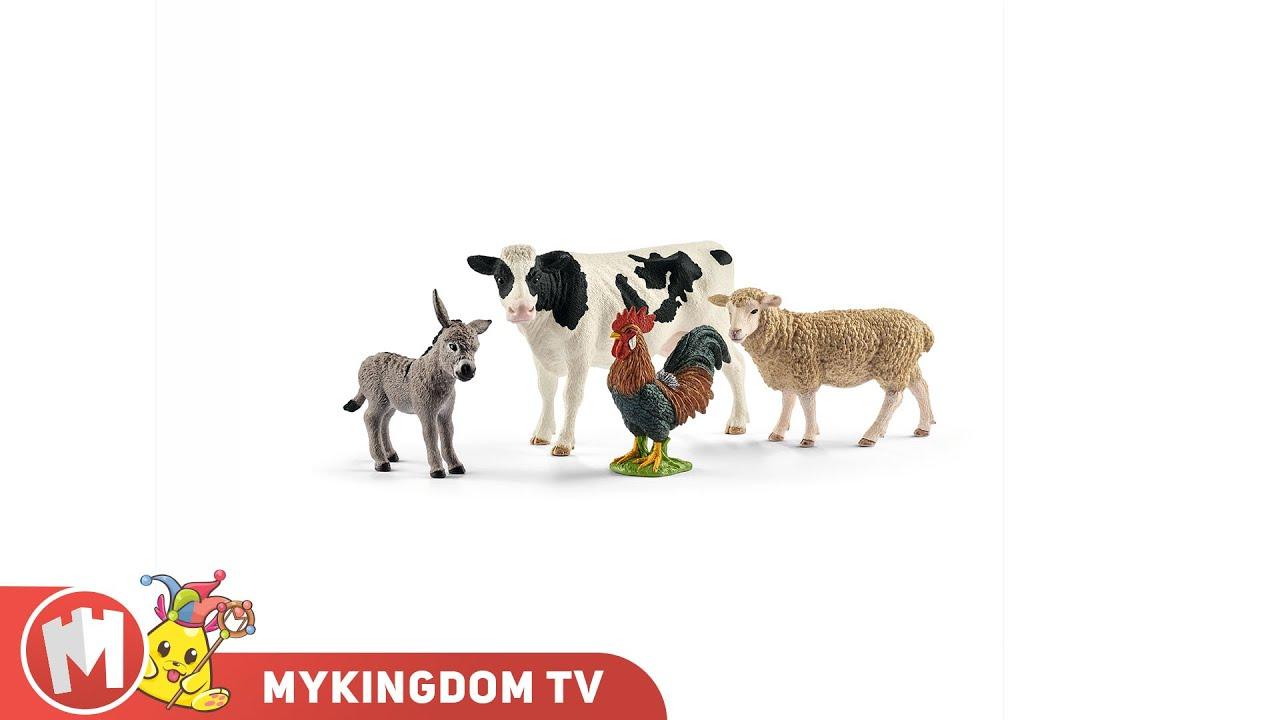 Bộ mô hình động vật Nông trại (Bò sữa, Cừu, Gà trống, Lừa) | SCHLEICH 42385