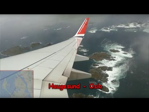 Extreme crosswind | Norwegian Boeing 737-800 Haugesund - Oslo