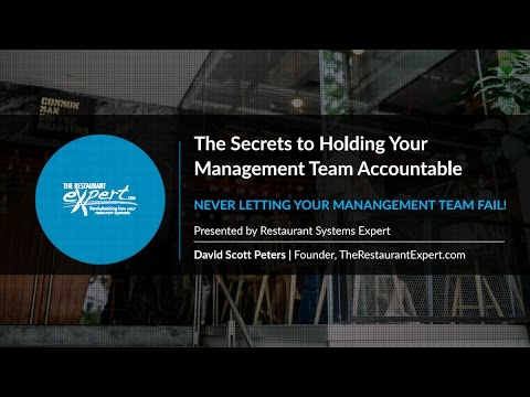 Free Webinar: The Secrets to Holding Your Management Team Accountable