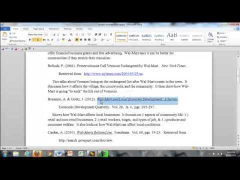 APA formatting: underlining, italics, centering, double-spacing - YouTube