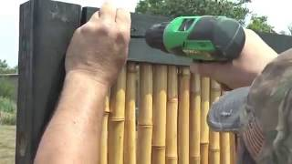 Como Fazer Cerca de Bambu de luxo