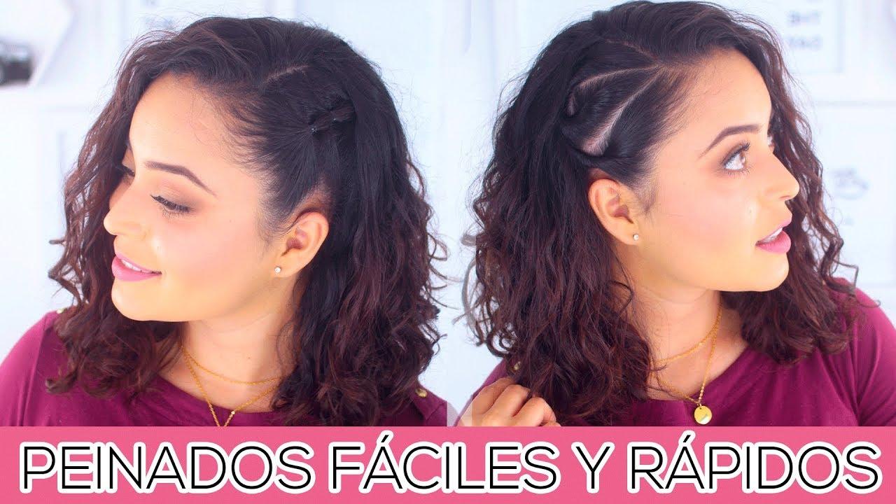 Peinados Faciles Y Rapidos Para Cabello Rizado Fabi Ortiz