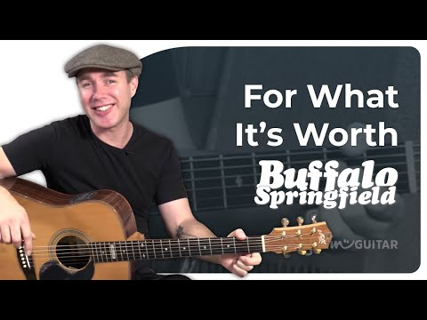 For What Its Worth - Buffalo Springfield - Easy Beginner Song Guitar Lesson Tutorial (BS-122)