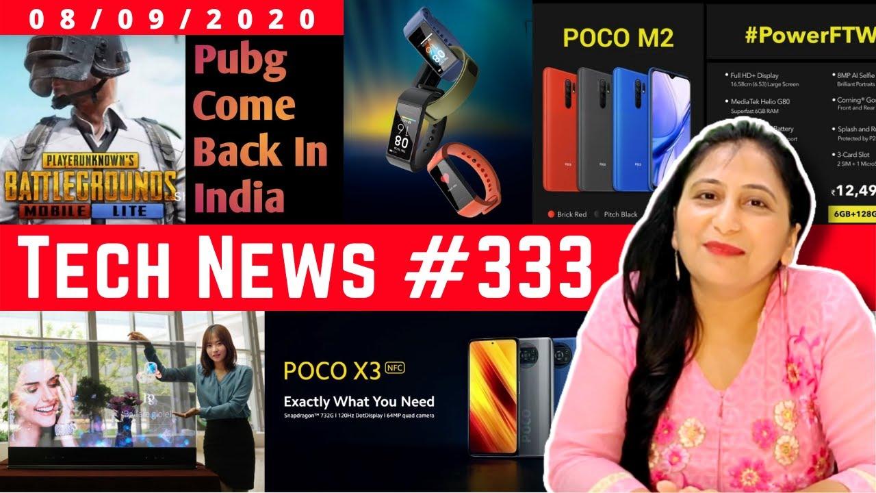 Tech News 333 - POCO X3 India Launch, Mi Transparent TV, PUBG Come Back  India, Poco M2, Narzo 20 - YouTube