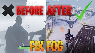 How To Get Rid Of Fog In Fortnite (Season 7 Ice Storm)