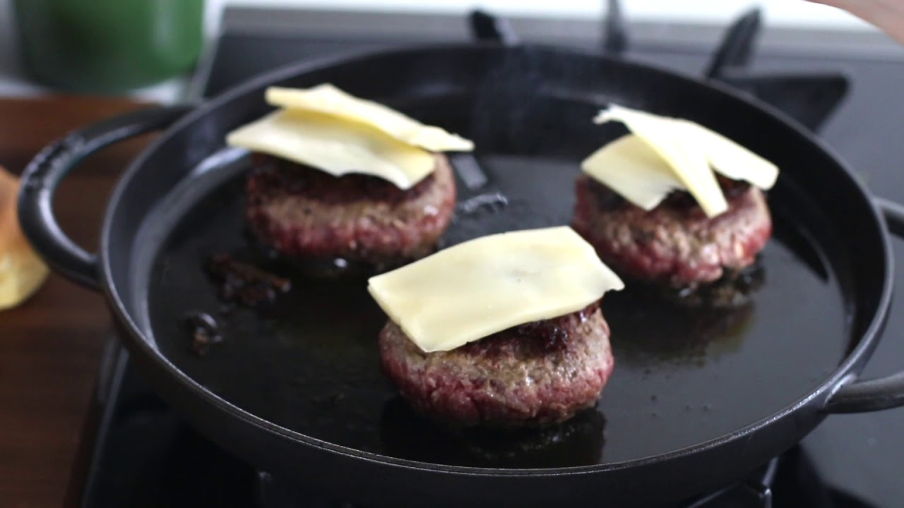 Staub Steam Griddle Burger Youtube