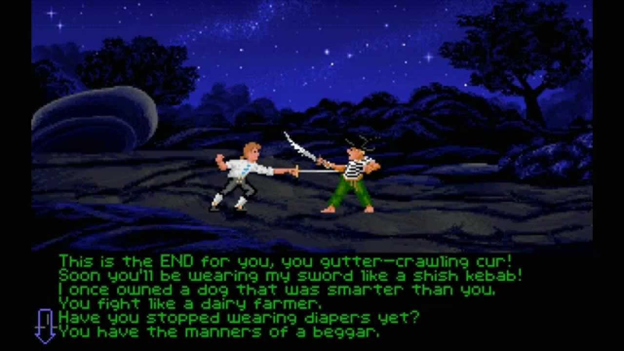 Monkey Island Sword Fighting Responses