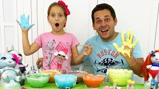 Sofia and dad are preparing a Giant Slime