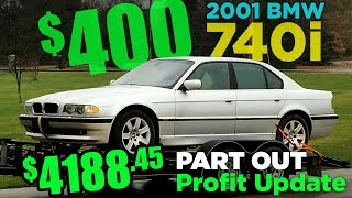 How I made $4k parting out a BMW E38 7-Series - only half way done!