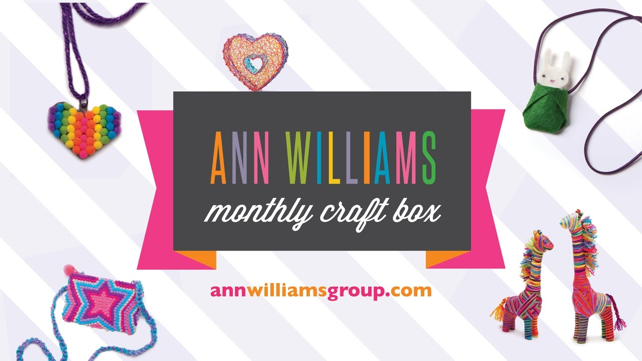 Ann williams monthly craft box woohoo youtube for Ann williams monthly craft box