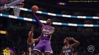 LeBron James Lights up the Pelicans With 14 PTS in the 1st QTR! | New Orleans Pelicans @ LA Lakers