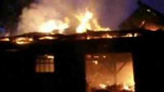OSP Lotyń - Pożar obory