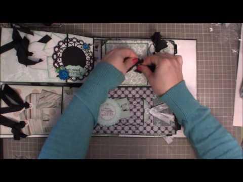 Kaiser Craft Blue Bay Horizontal Paper Bag mini Album Walk Through