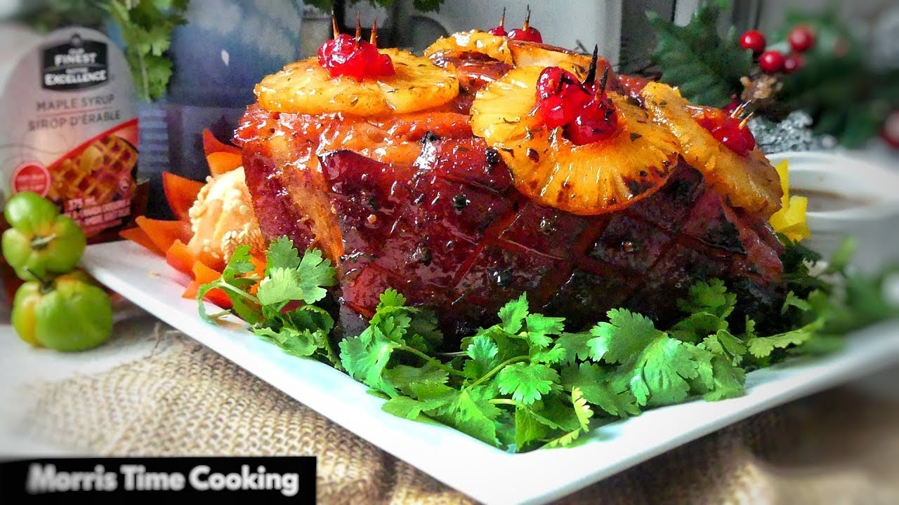 Jamaican Christmas Ham.How To Cook Scotch Bonnet Maple Glazed Ham For Christmas Lesson 85 Morris Time Cooking
