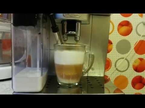 Приготовление капучино в Delonghi Magnifica S ECAM 22.360.s.  Cappuccino in Delonghi...
