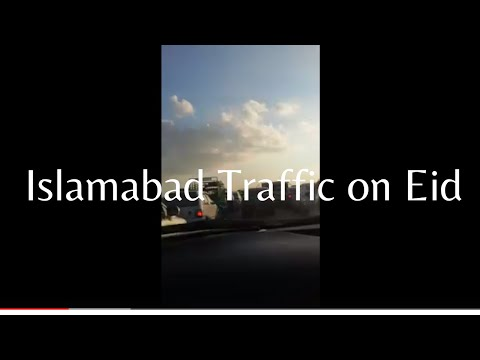 Islamabad traffic jam on motorway