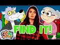 Find the Grandmas! Little Red Riding Hood Story with Ms. Booksy | Find It Game | Cartoons for Kids