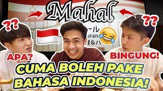 VLOG MAKAN \\\x22MAHAL\\\x22 CUMA BOLEH PAKE BAHASA INDONESIA! NGAKAK BGT😂