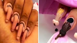 WHAT IS THIS...?THE craziest NAIL designs😱Strange Weird manicure ideas nail art