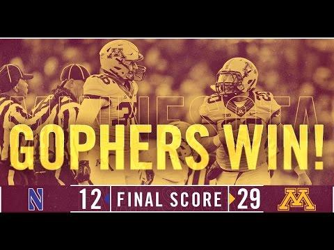 Highlights: Gopher Football Defeats Northwestern 29-12