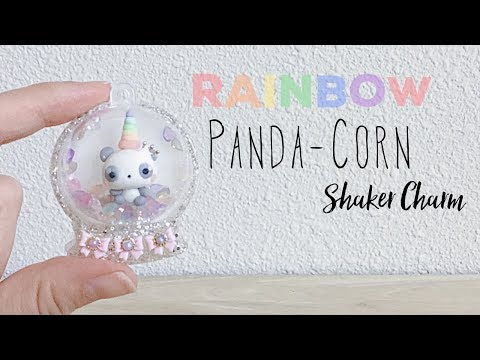 Pandacorn Shaker Snow Globe - DIY UV Resin and Polymer Clay