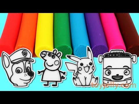 Learn Colors Play Doh Clay Paw Patrol Peppa Pig Pokemon Pikachu Tayo Toys Fun and Creative for Kid