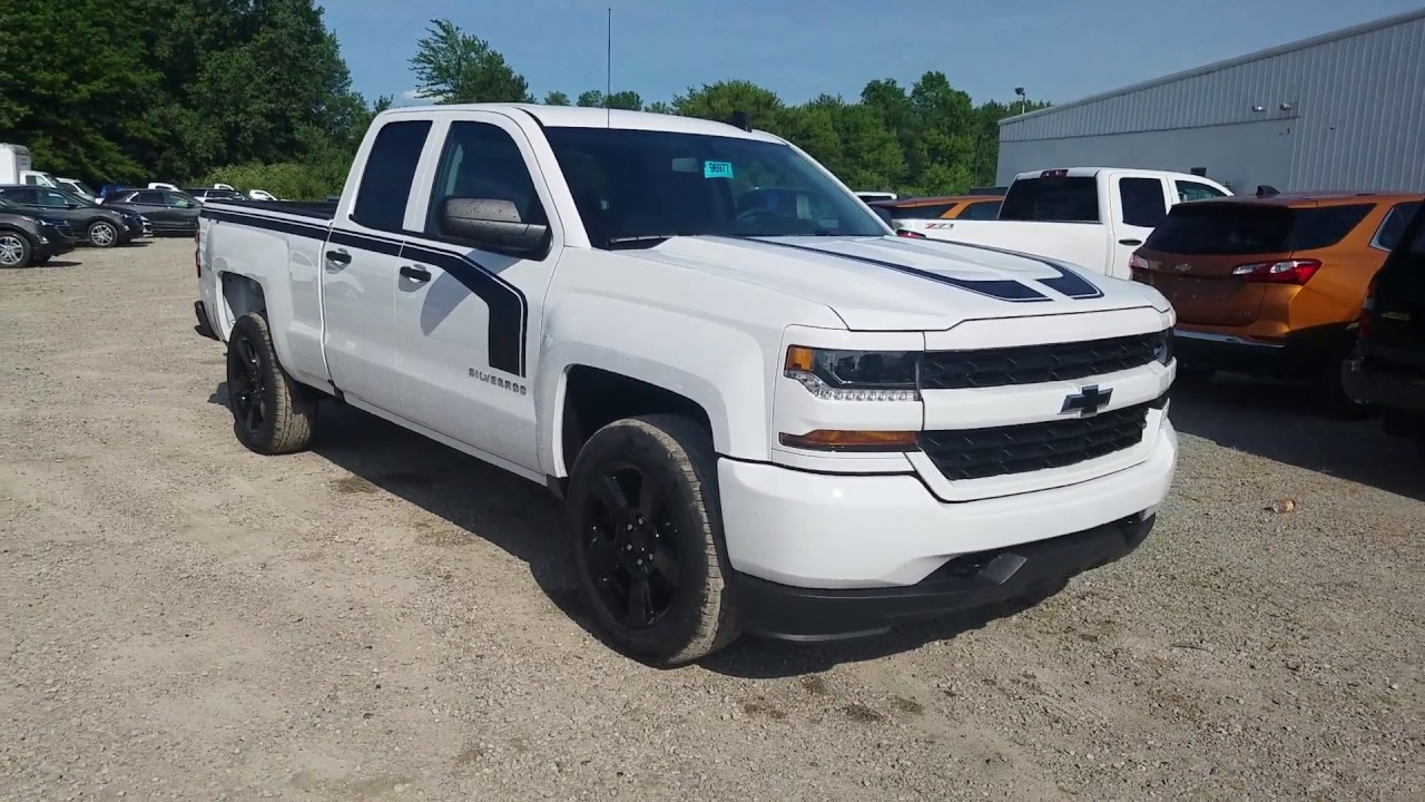 2017 chevy silverado 1500 custom rally 1 edition double cab summit white intro youtube. Black Bedroom Furniture Sets. Home Design Ideas