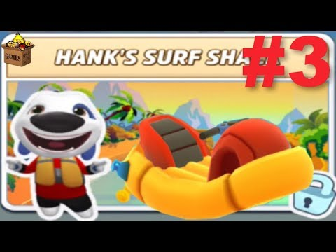TALKING TOM JETSKI 2^HANK & BIG AIR^HANK's Surf Shack*Gameplay For Kid #3