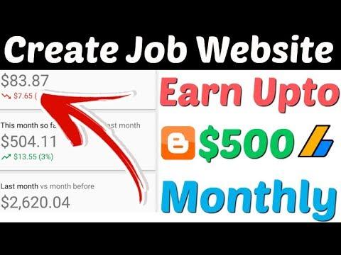 Create Job Website On Google Blogger | Earn $500 Month From Job Website | How To Make Job Website |
