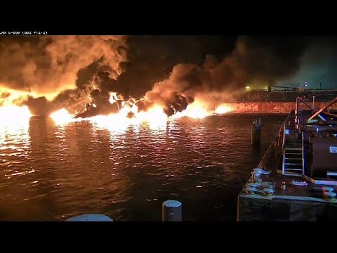 Tanker Aframax River Hits Mooring, 88,000 Gallons Of Oil Burn
