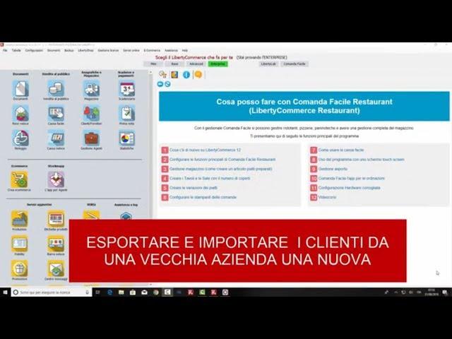 Esportazione clienti fornitori in formato XML - LibertyCommerce Academy