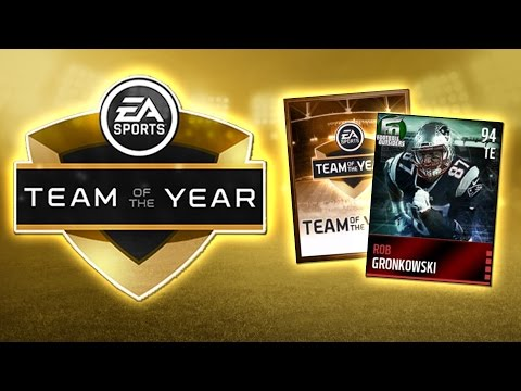 NEW FOOTBALL OUTSIDERS GRONKOWSKI + MADDEN MOBILE TEAM OF THE YEAR PACK OPENING!