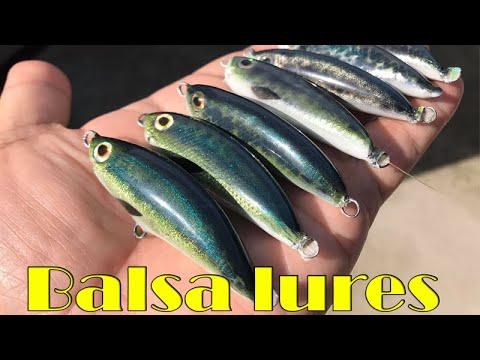 ทำเหยื่อปลอม ง่ายๆจากไม้บัลซ่า /membuat umpan kayu balsa/makig balsa wood fishing lures