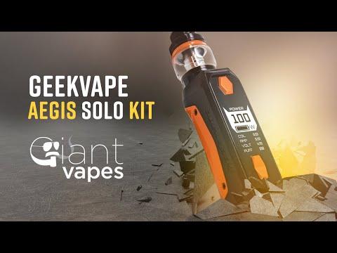GeekVape Aegis Solo Kit: A Giant Vapes How-To - YouTube