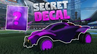 How To Get This New Secret Decal On Rocket League (Future Shock Design)