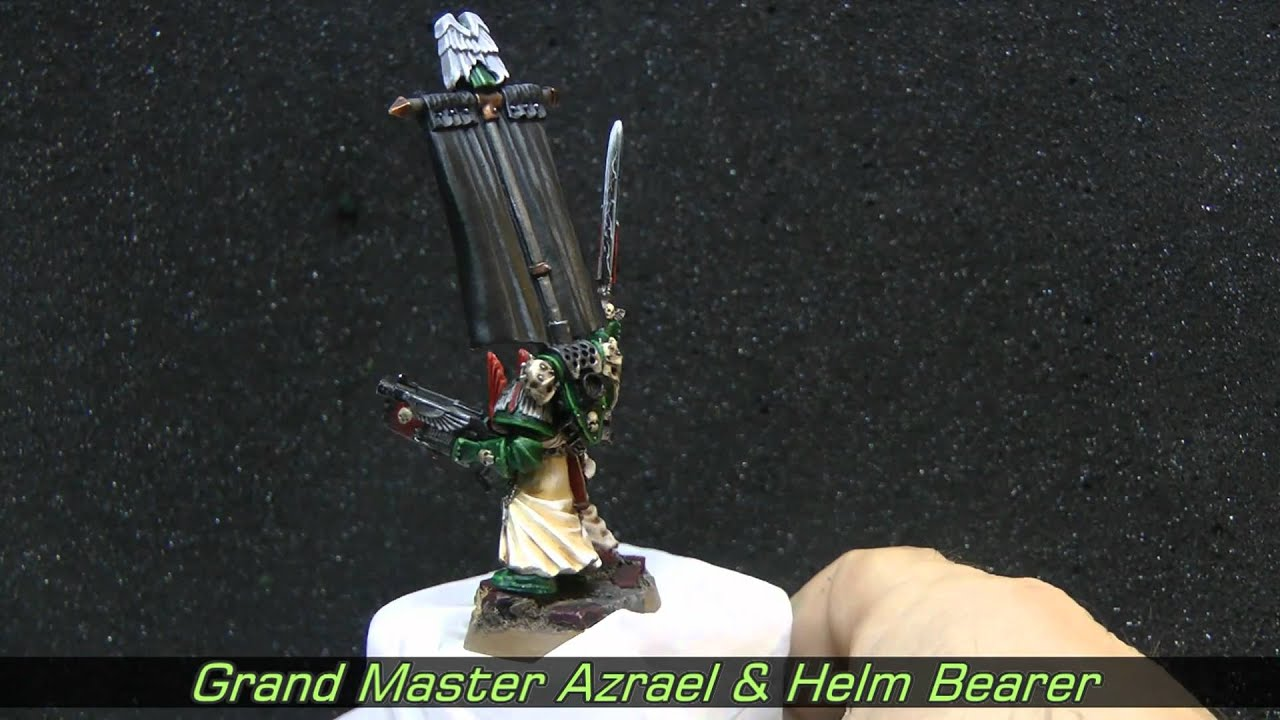 Grand Master Azrael and Helm bearer of the Dark Angels