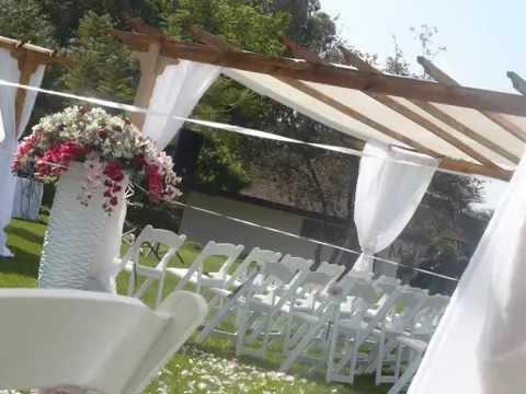 Party Pergola White Wedding Setup YouTube