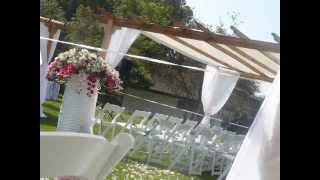 Party Pergola White Wedding Setup