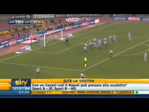 Napoli-Juventus 3-0 (Tripletta di Edinson Cavani)