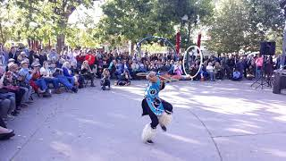 INDIGENOUS PEOPLES DAY 2019 - SANTA FE, NM  Champion Hoop Dancer Josiah Enrique