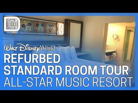 Refurbished Standard Room Tour - All-Star Music Resort