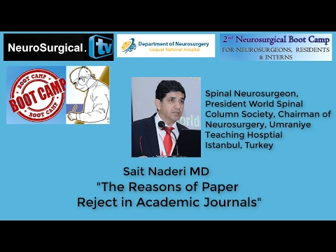 Sait Naderi MD: The Reasons for Manuscript rejection in Academic Journals