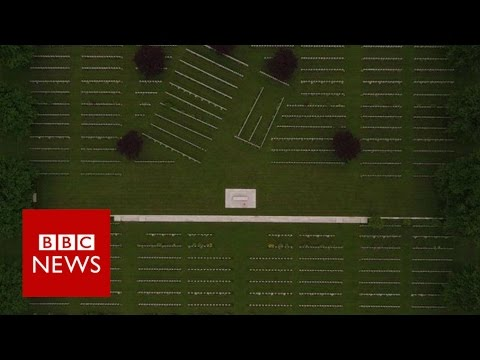 Drone reveals Somme battlefields 100 years on - BBC News