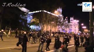 مظاهرات عنيفة في إسبانيا في مسيرة الكرامة