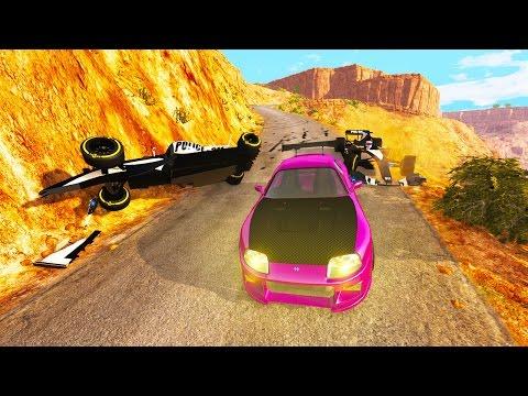 BeamNG Drive - SUPRA VS F1 CAR POLICE CHASES!