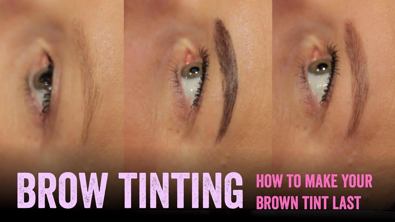 Make Brown Eyebrow Tinting Last Longer Salon Secrets Youtube
